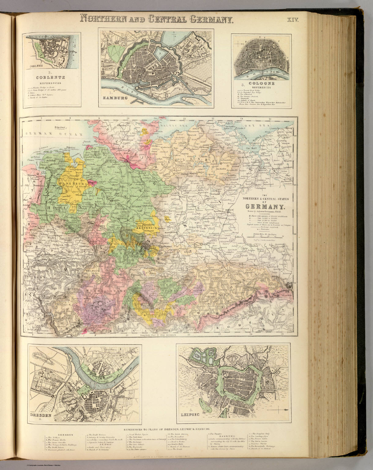 Map Of Central Germany.Northern And Central Germany David Rumsey Historical Map Collection