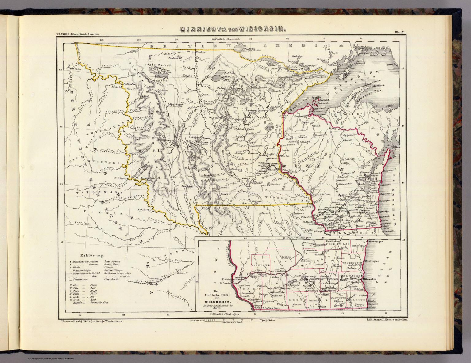 Minnisota und Wisconsin.