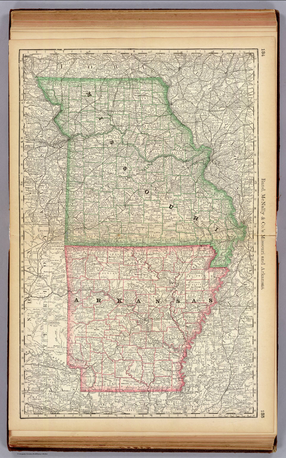 Missouri and Arkansas.   David Rumsey Historical Map Collection