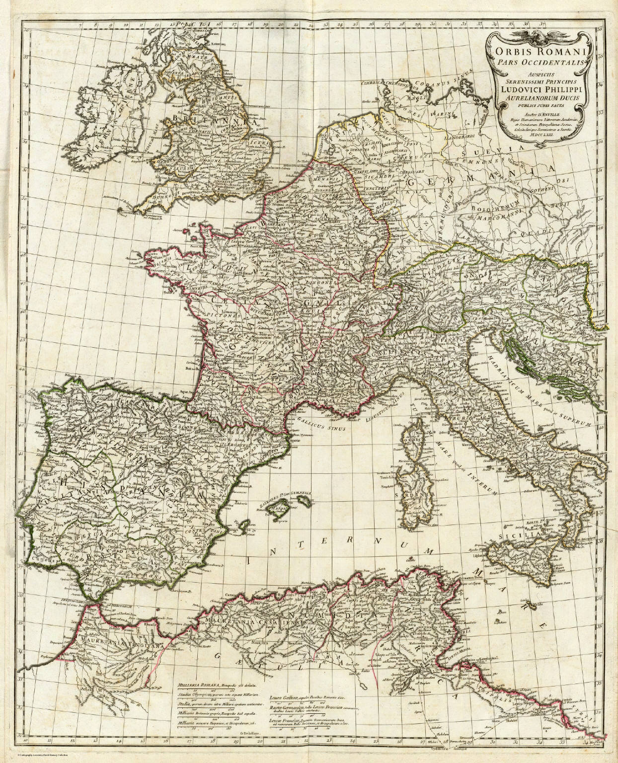 Orbis Romani Pars Occidentalis David Rumsey Historical Map - Pars map