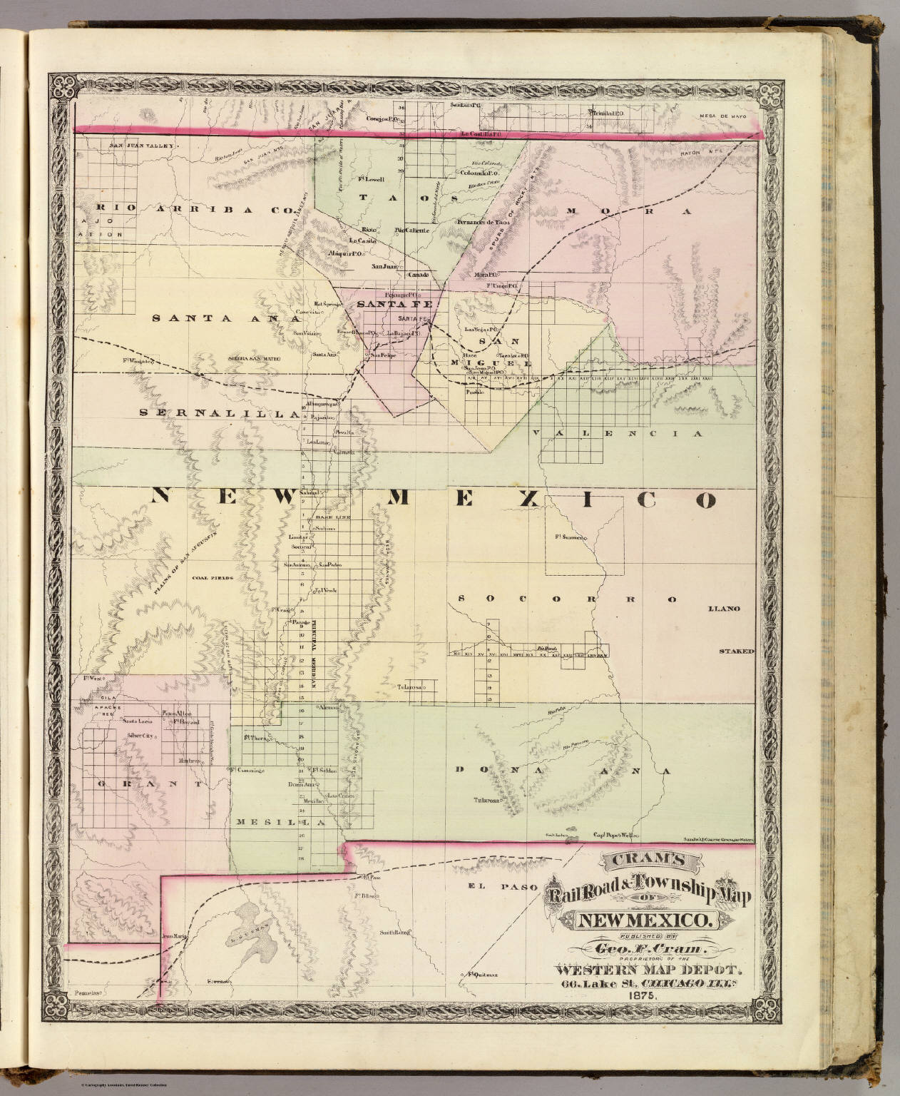 Mew Mexico Map.New Mexico David Rumsey Historical Map Collection