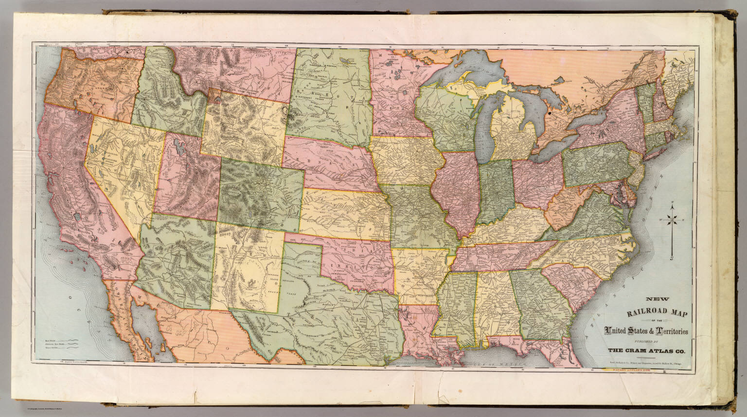 Picture of: New Railroad Map Of The United States Territories David Rumsey Historical Map Collection