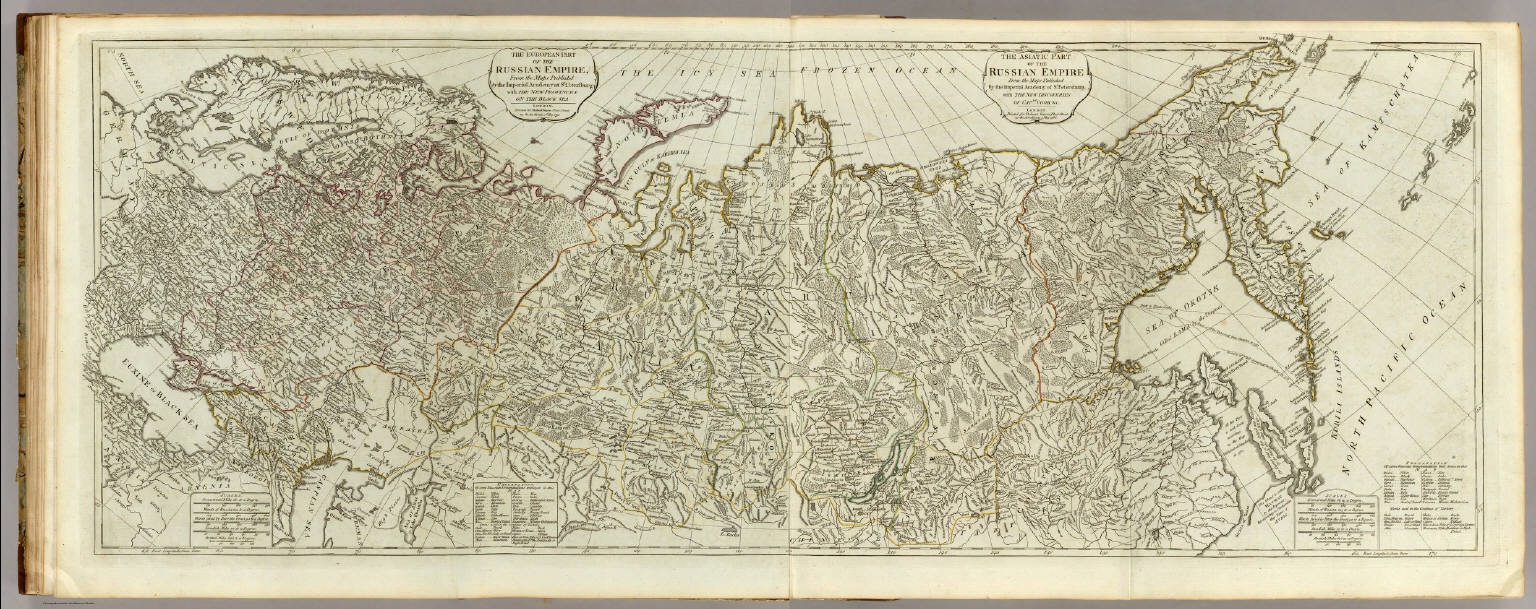 The European part of the Russian Empire. The Asiatic Part of the ...