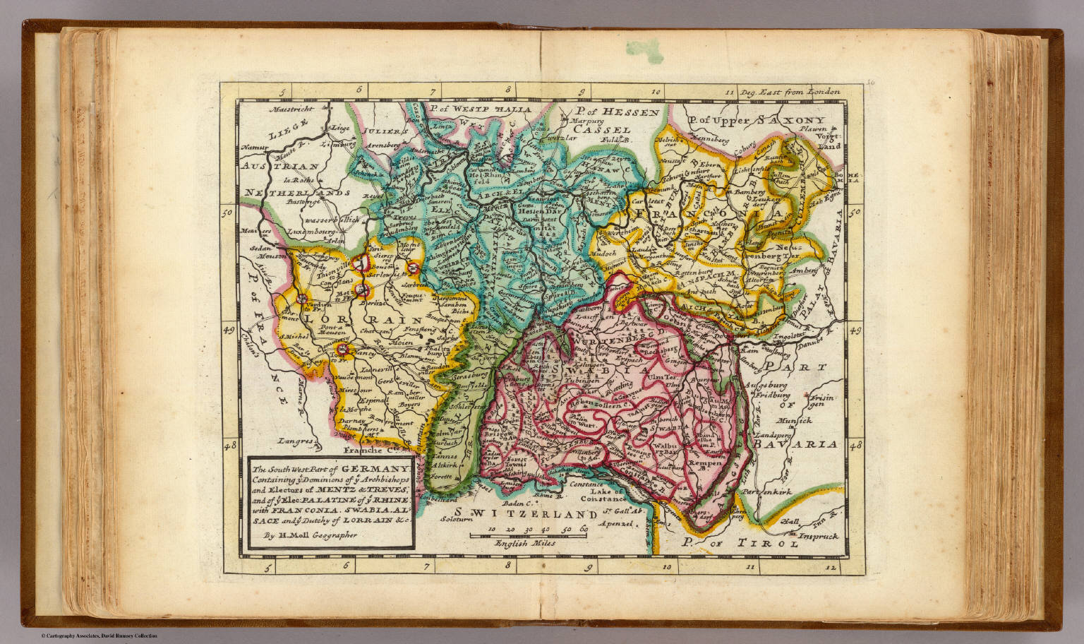 The South West Part Of Germany David Rumsey Historical Map Collection