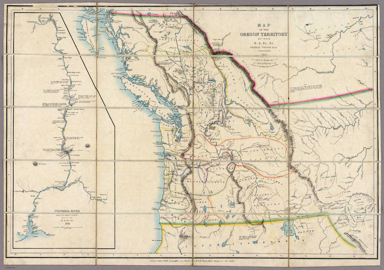 Map of the Oregon Territory - David Rumsey Historical Map ...
