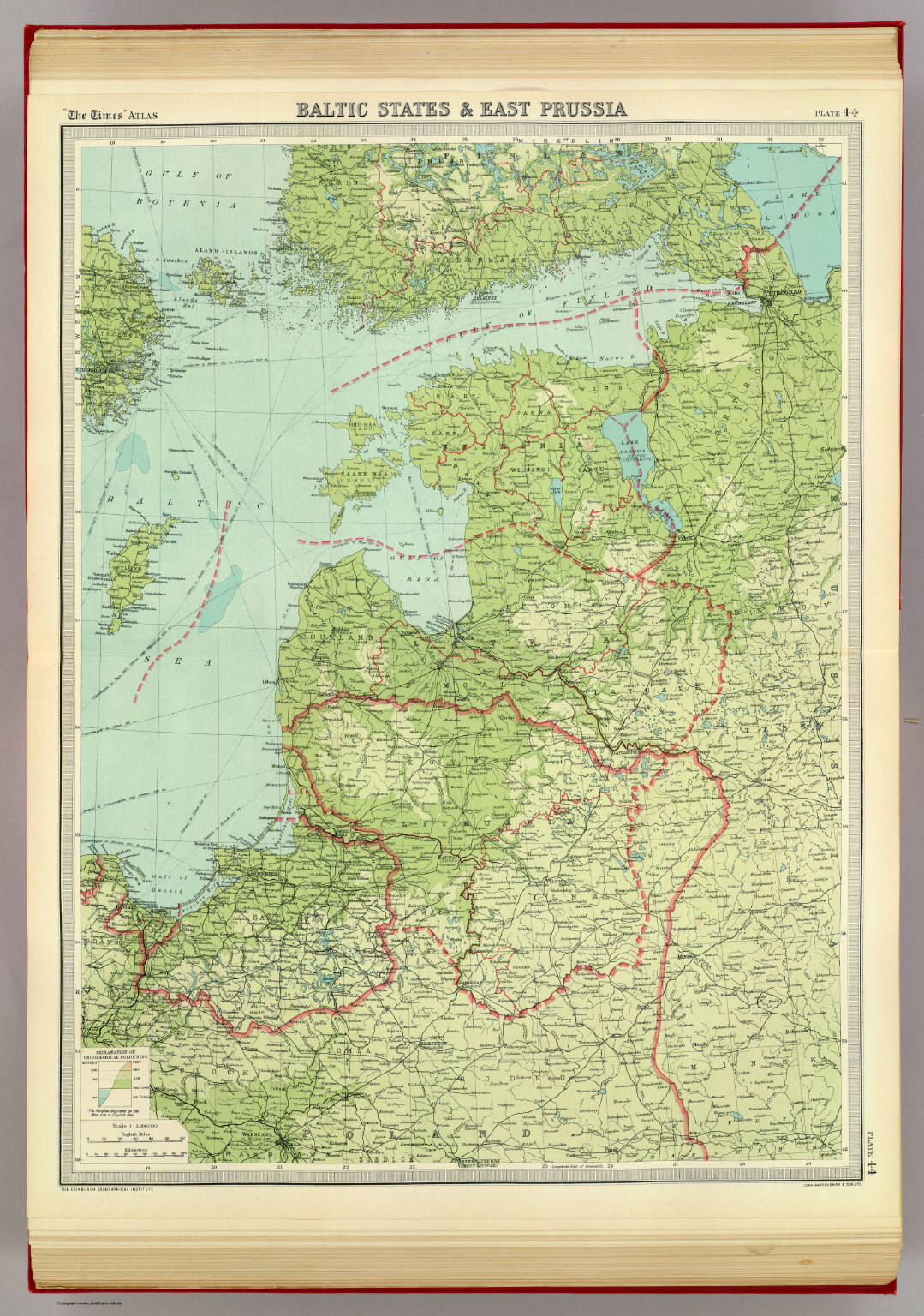 Baltic States & East Prussia. - David Rumsey Historical Map Collection
