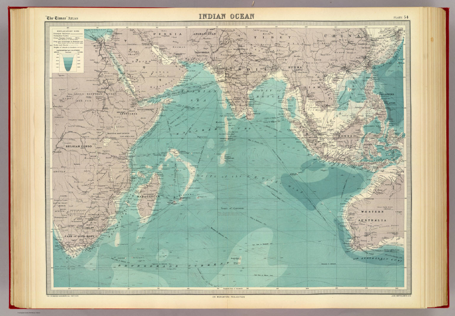 Indian ocean david rumsey historical map collection indian ocean publicscrutiny Images