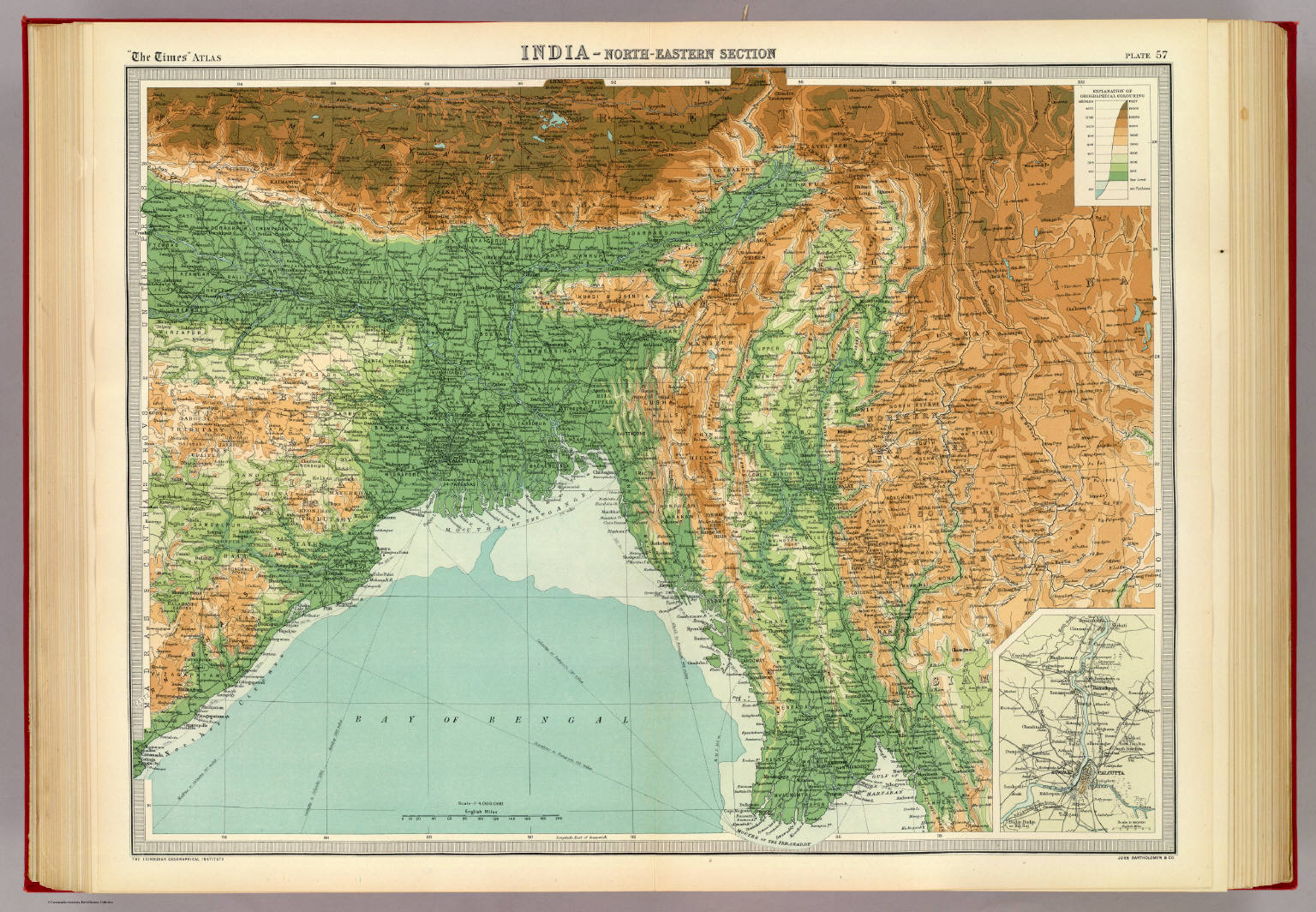 India North Eastern Section David Rumsey Historical Map Collection