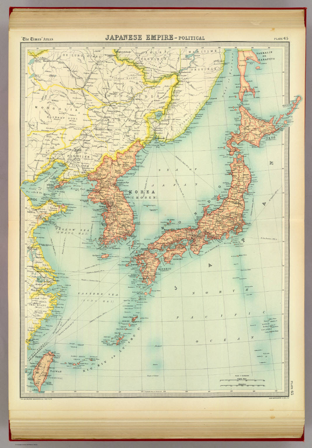 Japanese empire political david rumsey historical map collection japanese empire political gumiabroncs Images