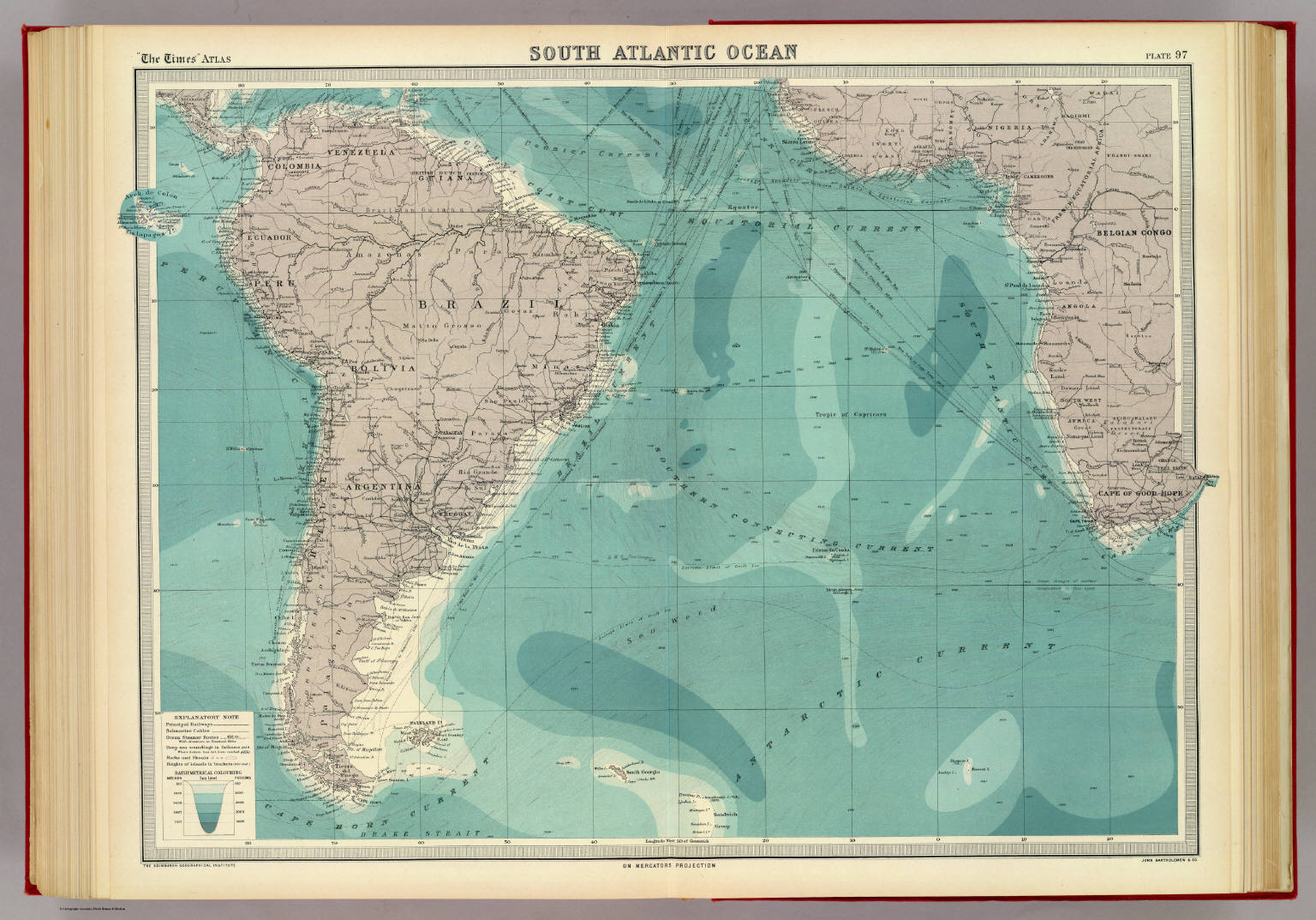 South Atlantic Ocean David Rumsey Historical Map Collection
