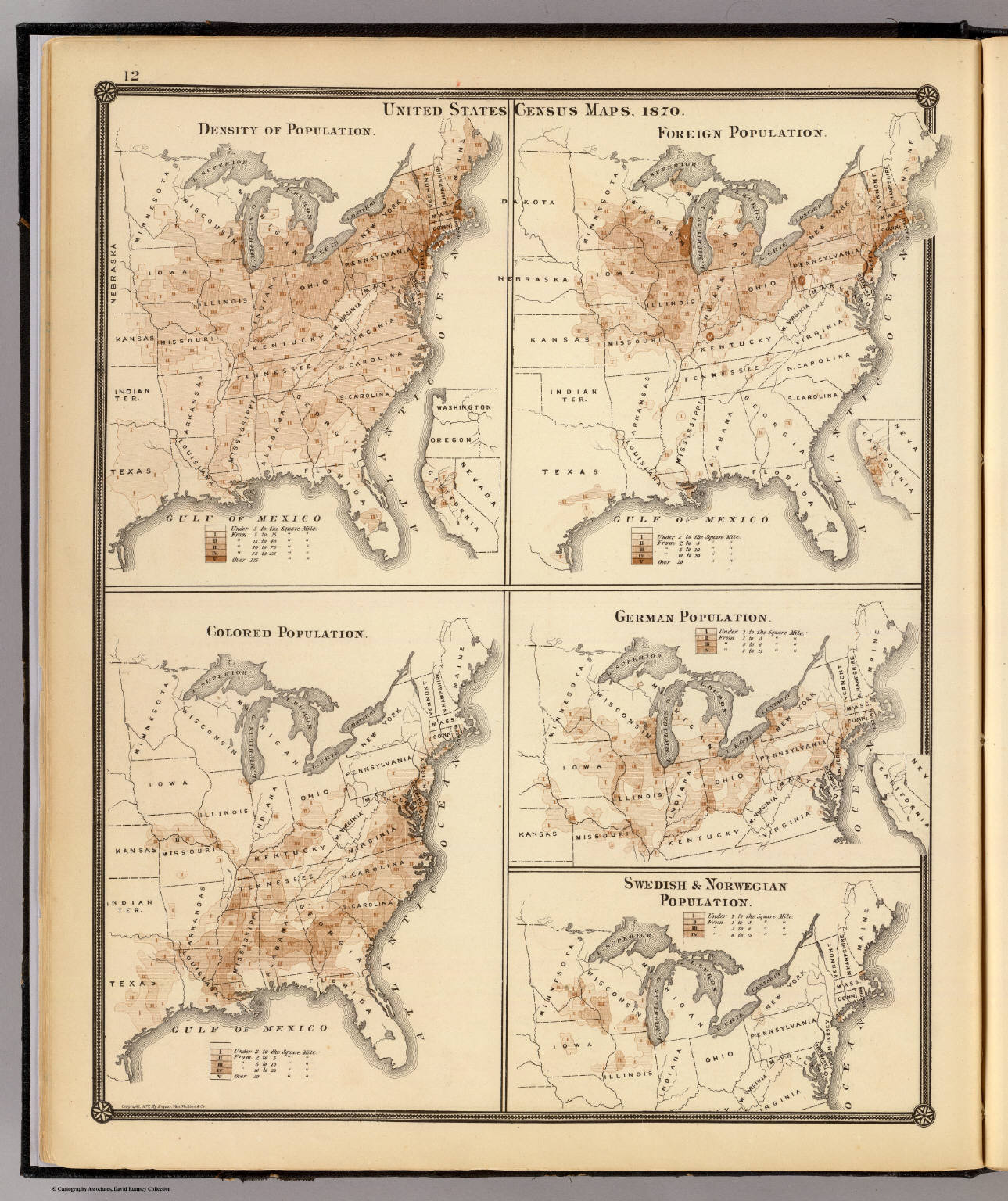 United States Census Maps 1870 David Rumsey Historical Map