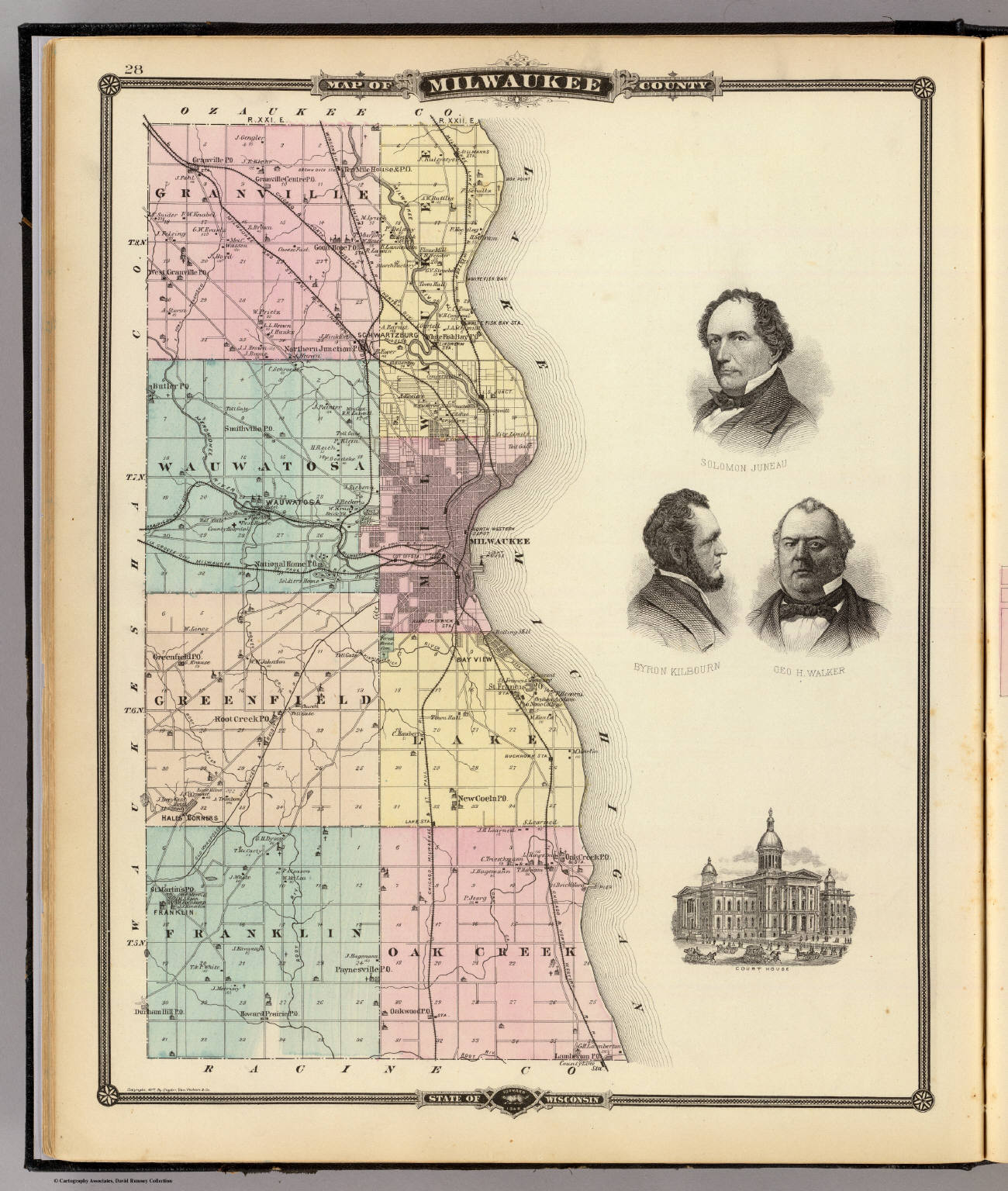Milwaukee State Map.Map Of Milwaukee County State Of Wisconsin Snyder Van Vechten