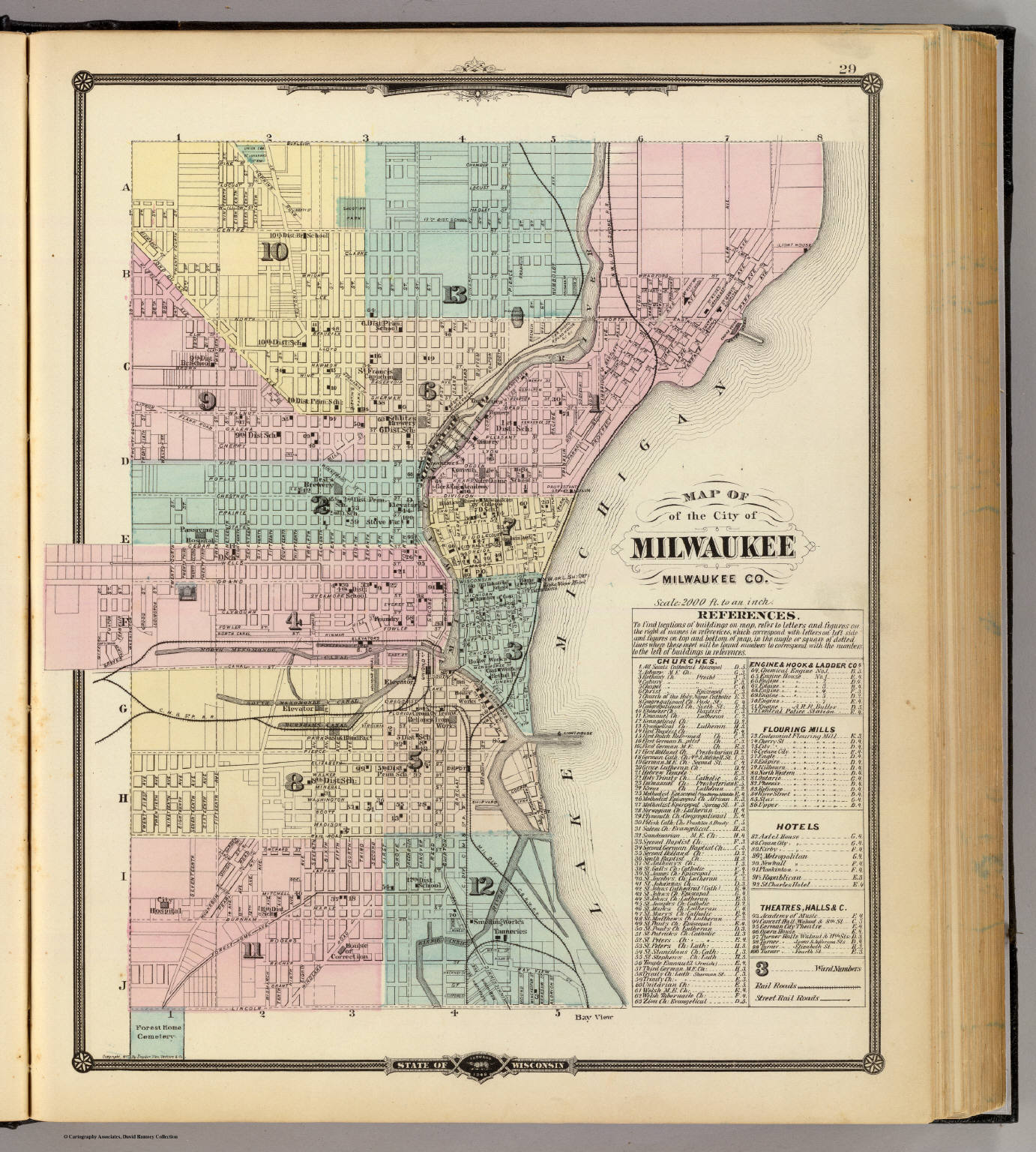 Map of the City of Milwaukee, Milwaukee Co. - David Rumsey ...