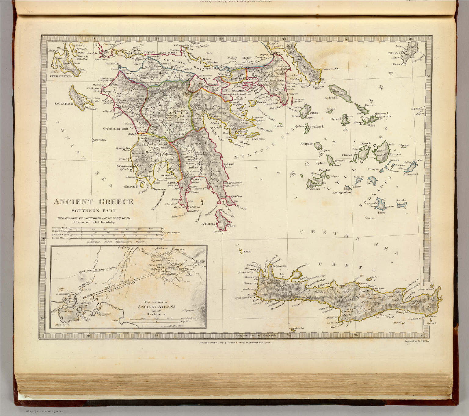 Ancient Greece Southern David Rumsey Historical Map Collection - Buy ancient maps