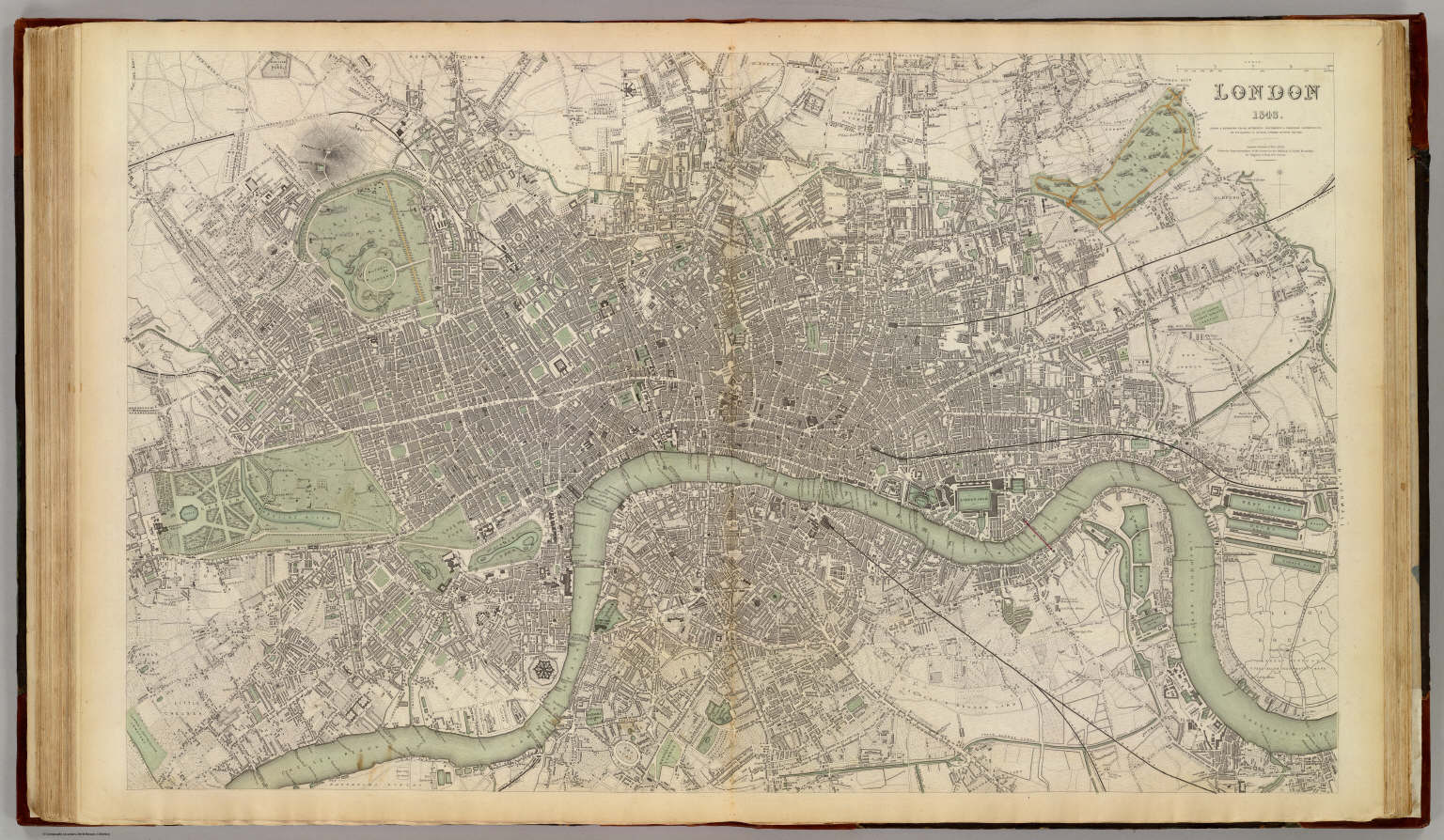 London Atlas Map.London 1843 David Rumsey Historical Map Collection
