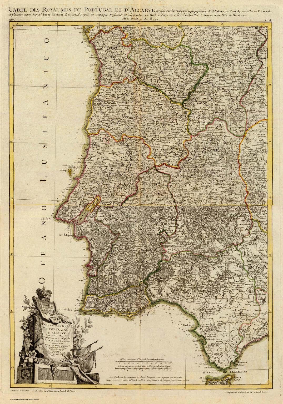 mapa historico de portugal Composite: Portugal, Algarve.   David Rumsey Historical Map Collection mapa historico de portugal