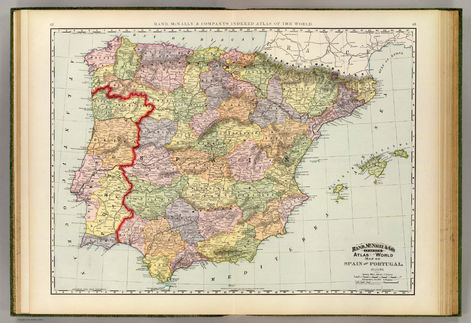 Spain portugal david rumsey historical map collection spain portugal gumiabroncs Gallery