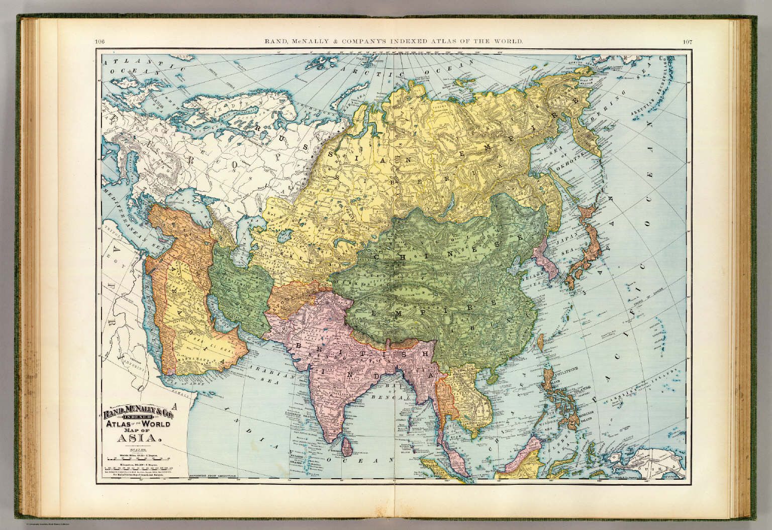 World Atlas Map Of Asia.Asia David Rumsey Historical Map Collection