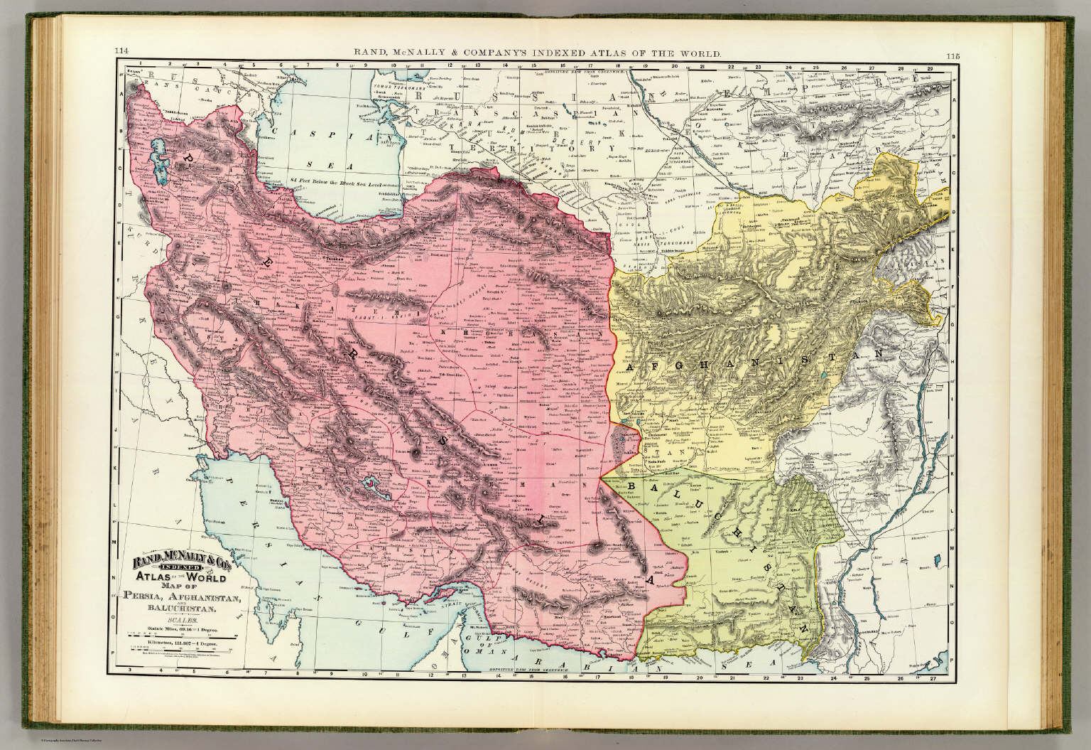 Persia Afghanistan Baluchistan David Rumsey Historical Map