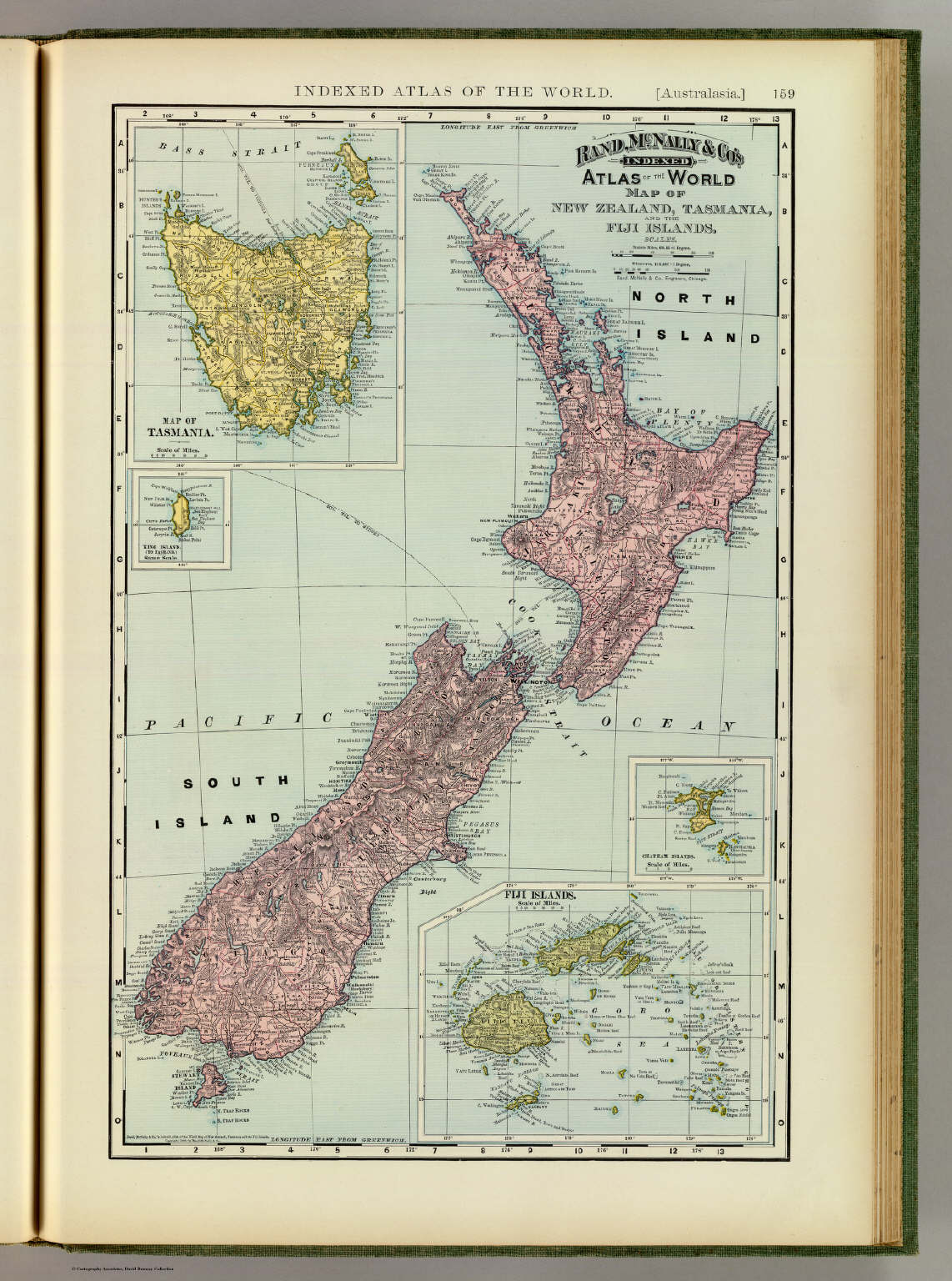 New zealand tasmania fiji david rumsey historical map collection new zealand tasmania fiji gumiabroncs Choice Image