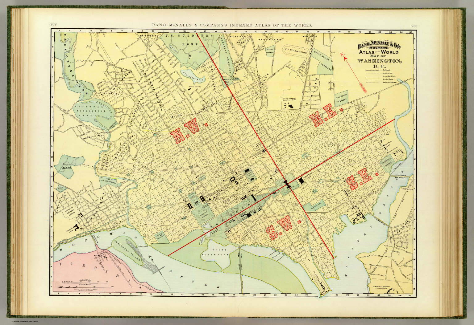 Washington D C David Rumsey Historical Map Collection