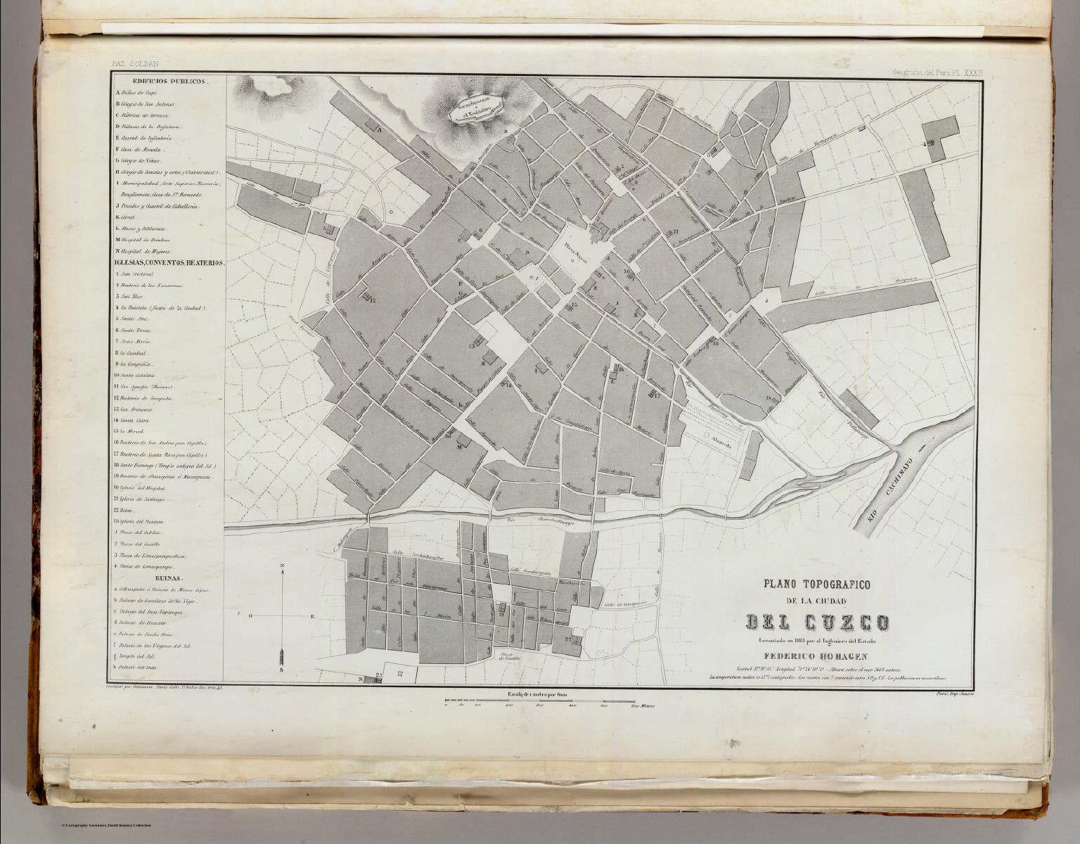 Plano topografico ciudad del cuzco david rumsey historical map plano topografico ciudad del cuzco publicscrutiny Image collections