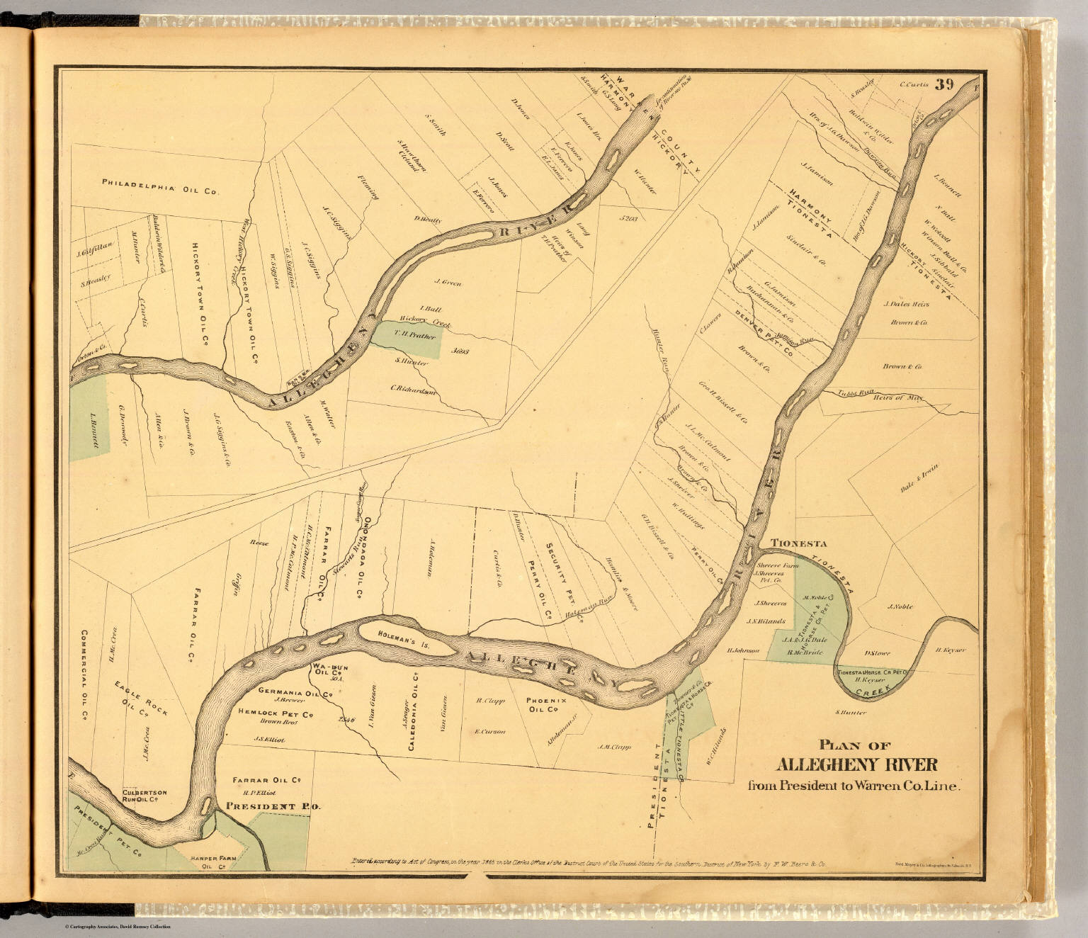 Allegheny River. - David Rumsey Historical Map Collection