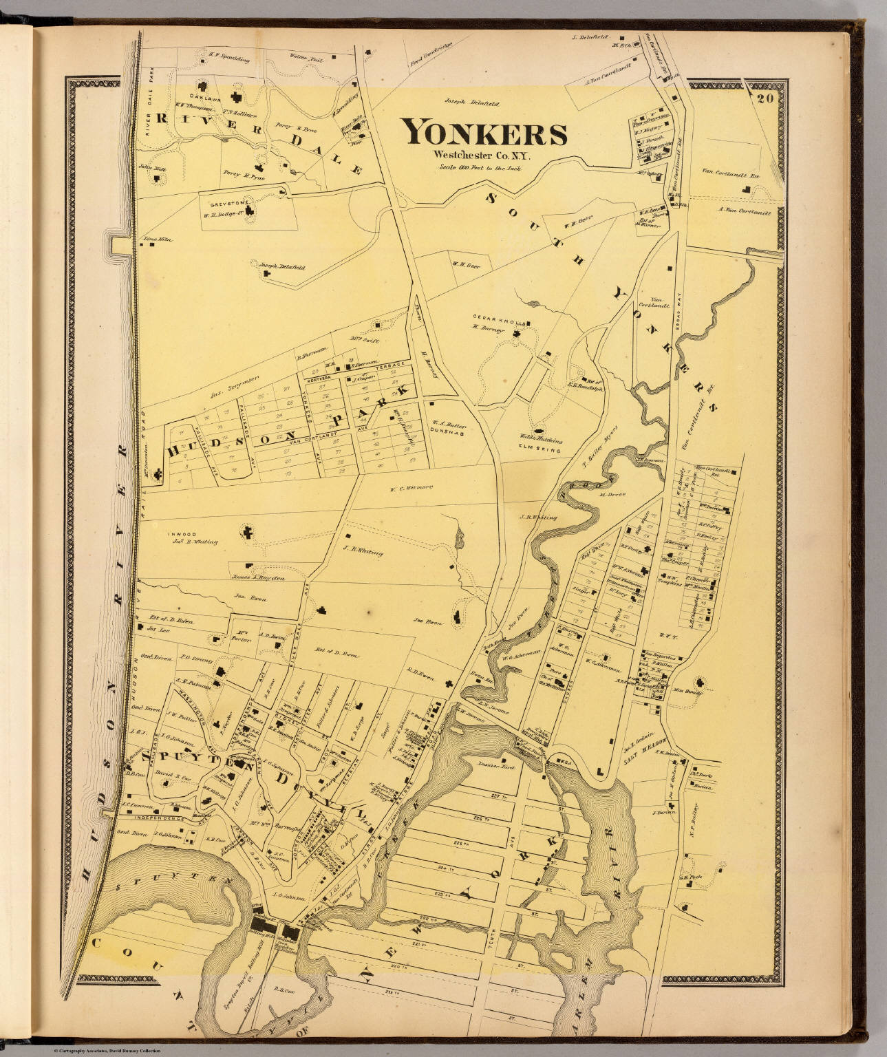 Map Of Yonkers Ny Yonkers, N.Y.   David Rumsey Historical Map Collection Map Of Yonkers Ny