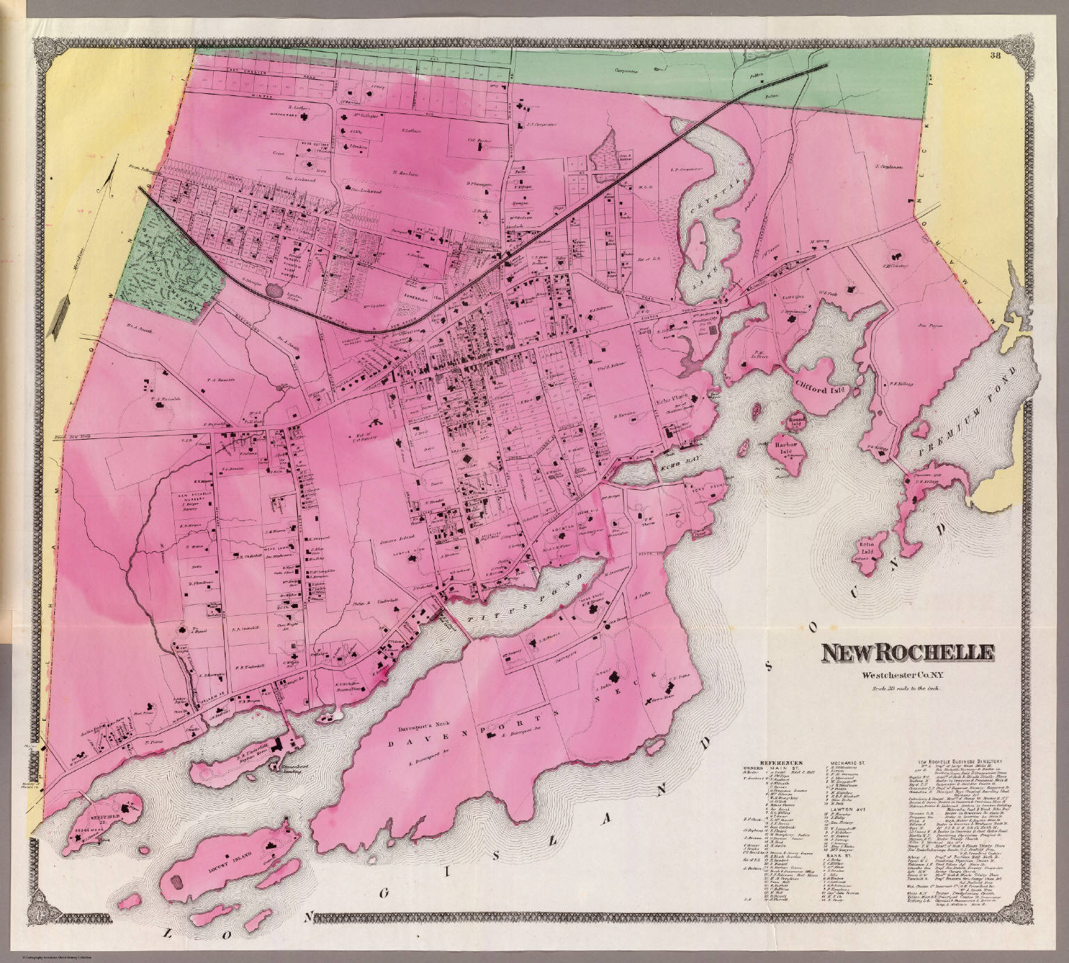 New Rochelle David Rumsey Historical Map Collection