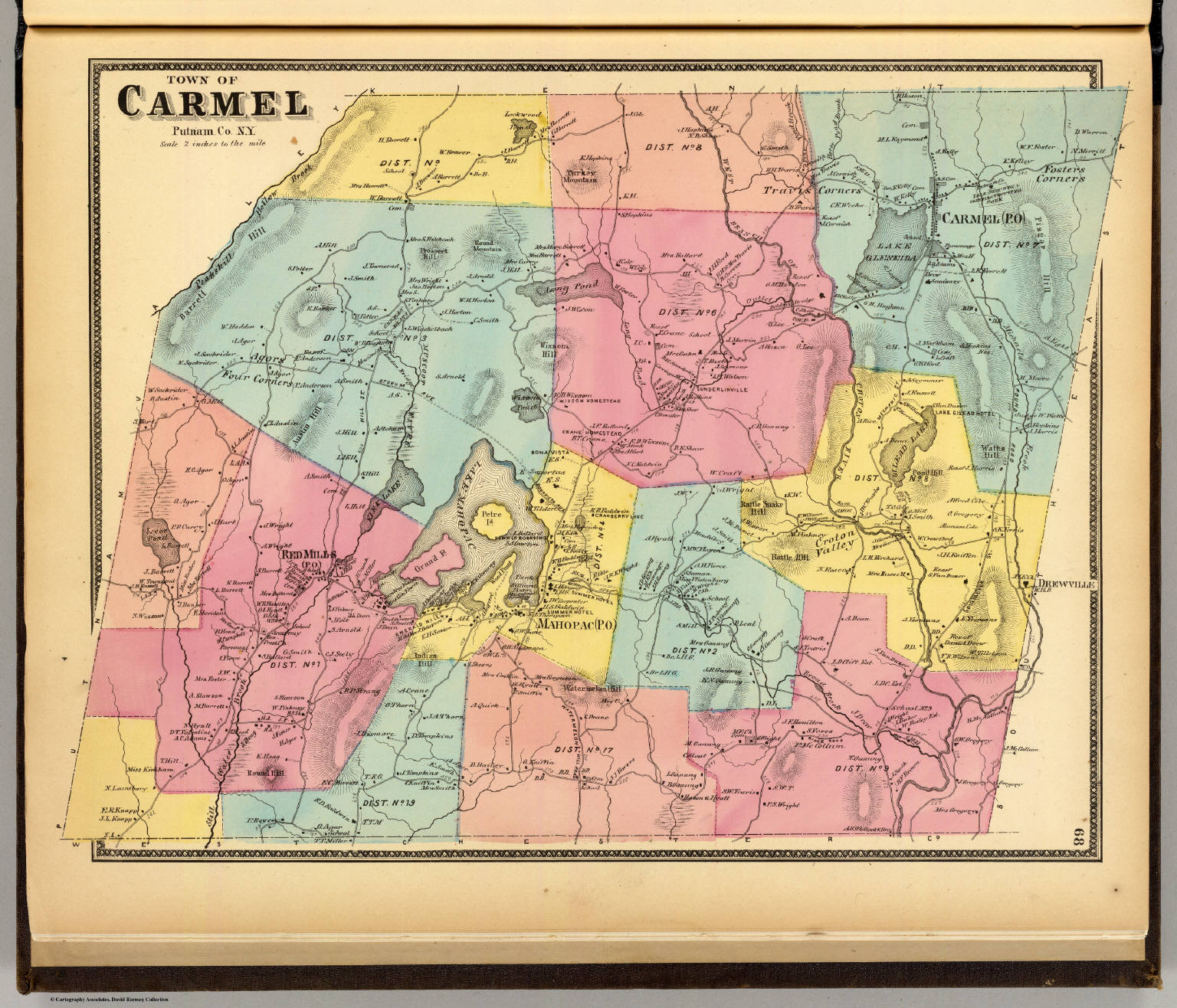 Carmel Town David Rumsey Historical Map Collection