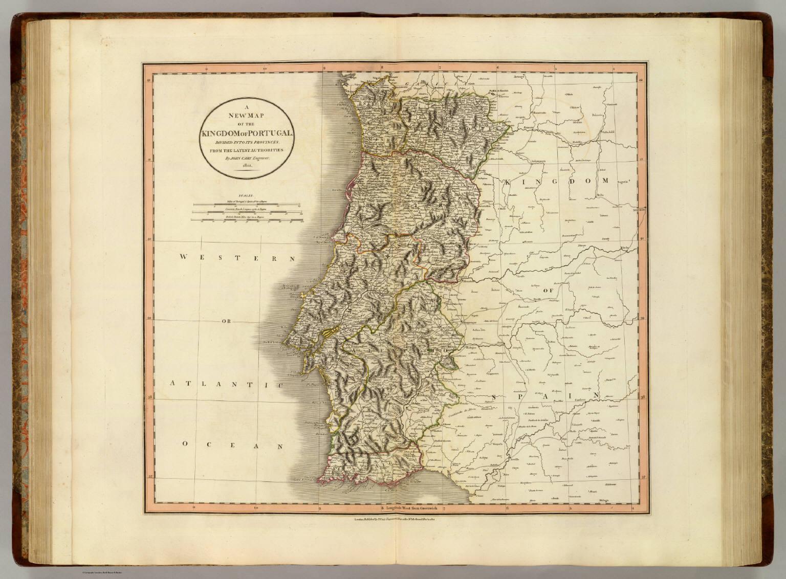 mapa historico de portugal Portugal.   David Rumsey Historical Map Collection mapa historico de portugal