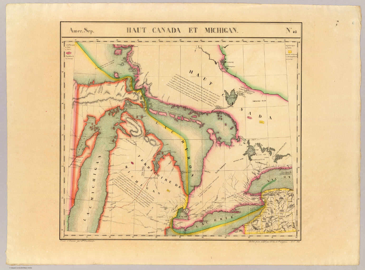 Haut Canada, Michigan. Amer. Sep. 42. - David Rumsey Historical Map ...