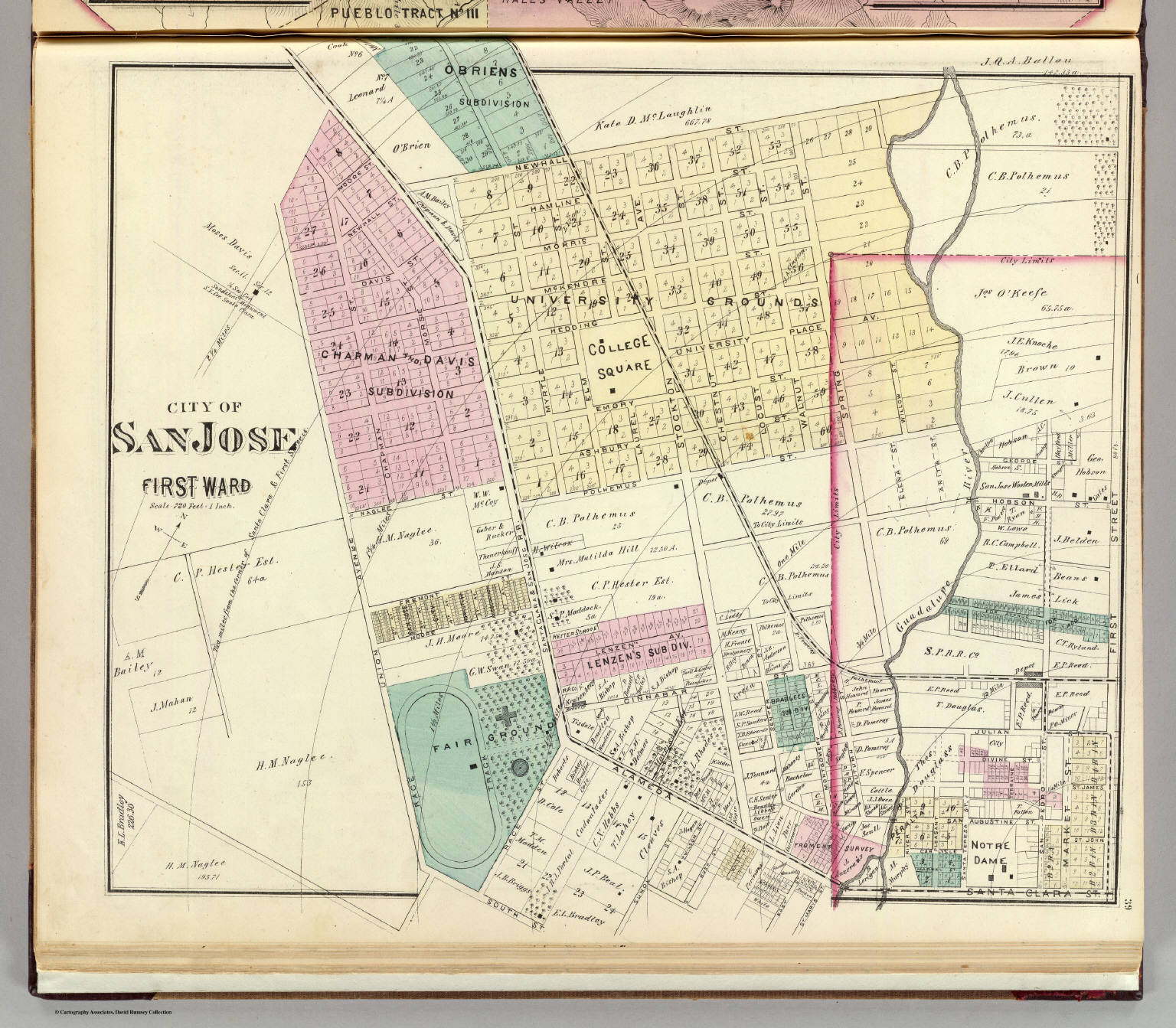 San Jose 1st ward. - David Rumsey Historical Map Collection
