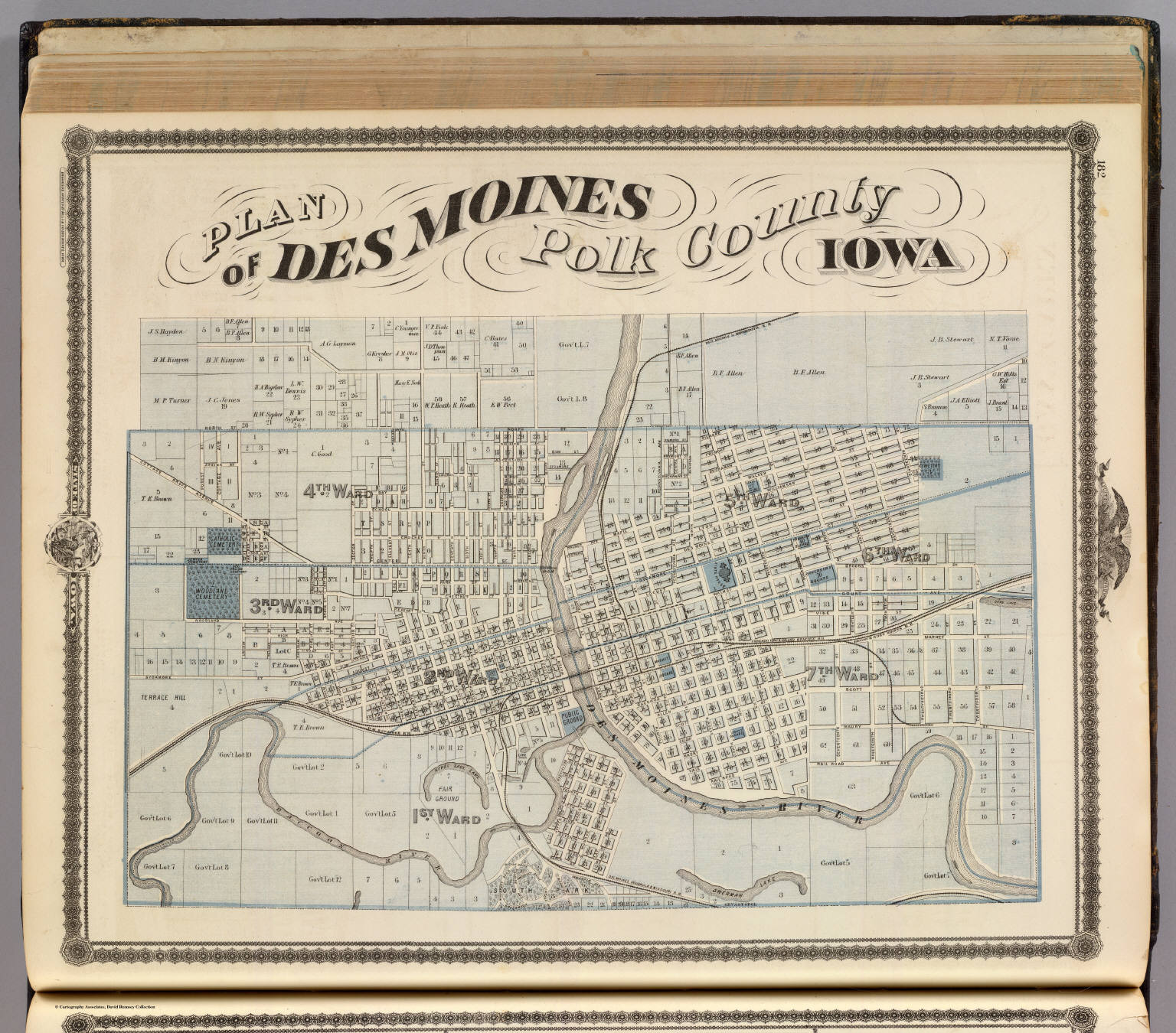 Plan of Des Moines, Polk County, Iowa. - David Rumsey Historical Map ...