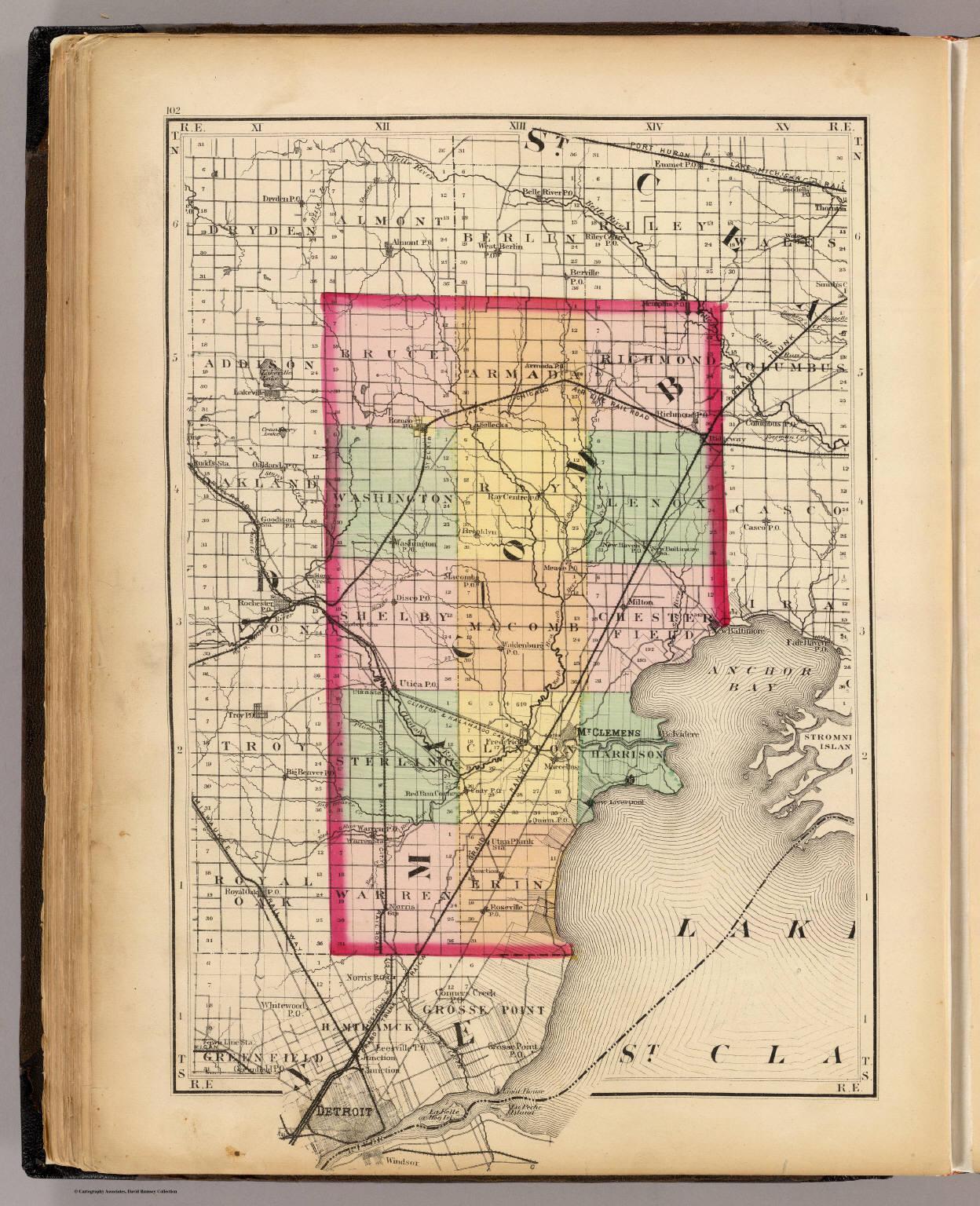 (Map of Macomb County, Michigan)