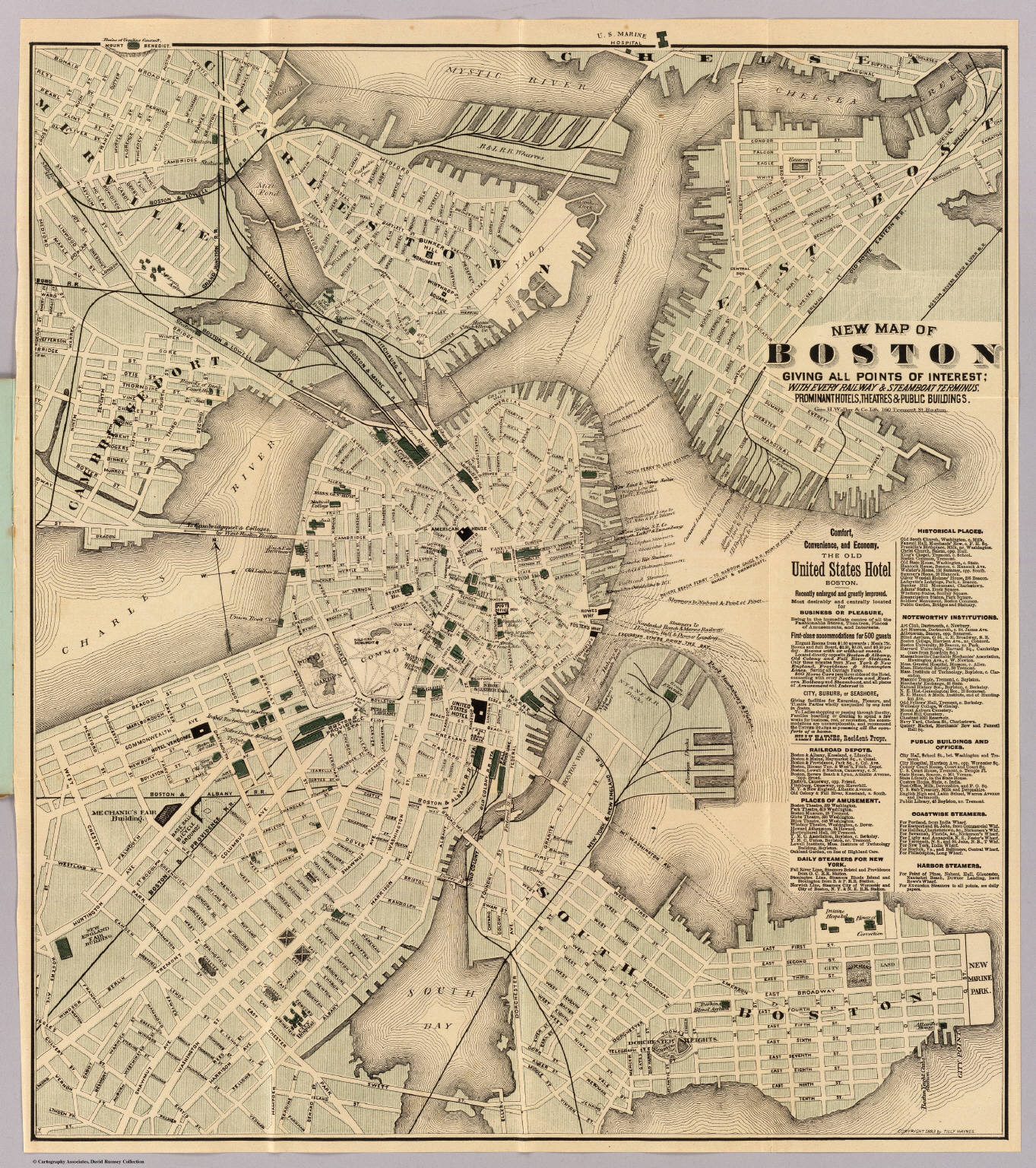 Boston Map Historical Sites.Boston David Rumsey Historical Map Collection