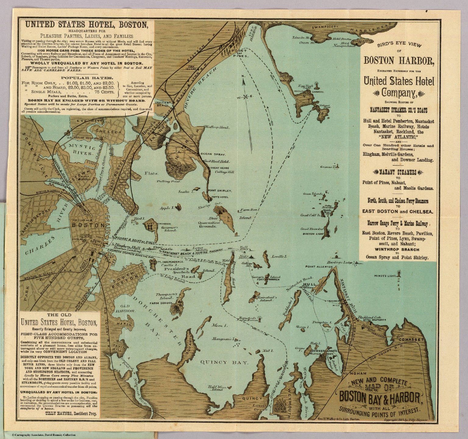 Boston Harbor Map Boston Harbor. / Haynes, Tilly / 1884 Boston Harbor Map