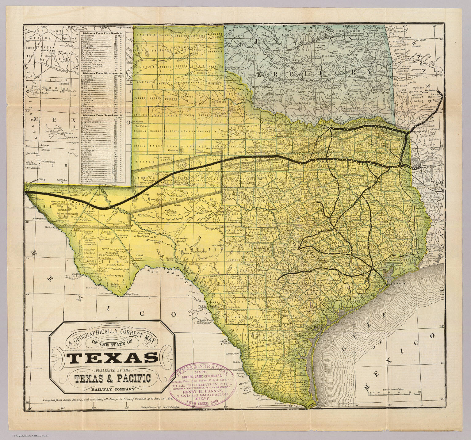State Of Texas David Rumsey Historical Map Collection