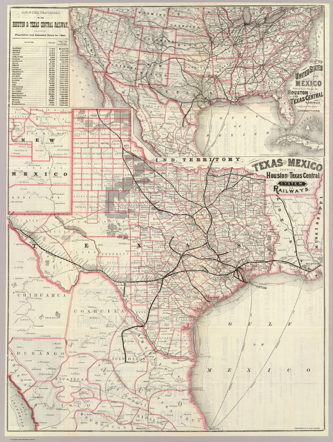 texas and mexico houston and texas central railways. texas and mexico houston and texas central railways  david