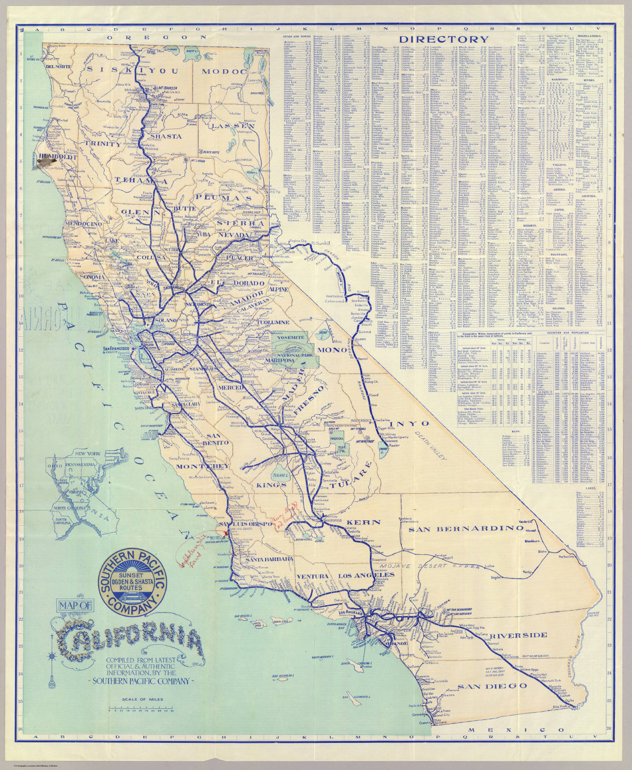 Map of California David Rumsey Historical Map Collection
