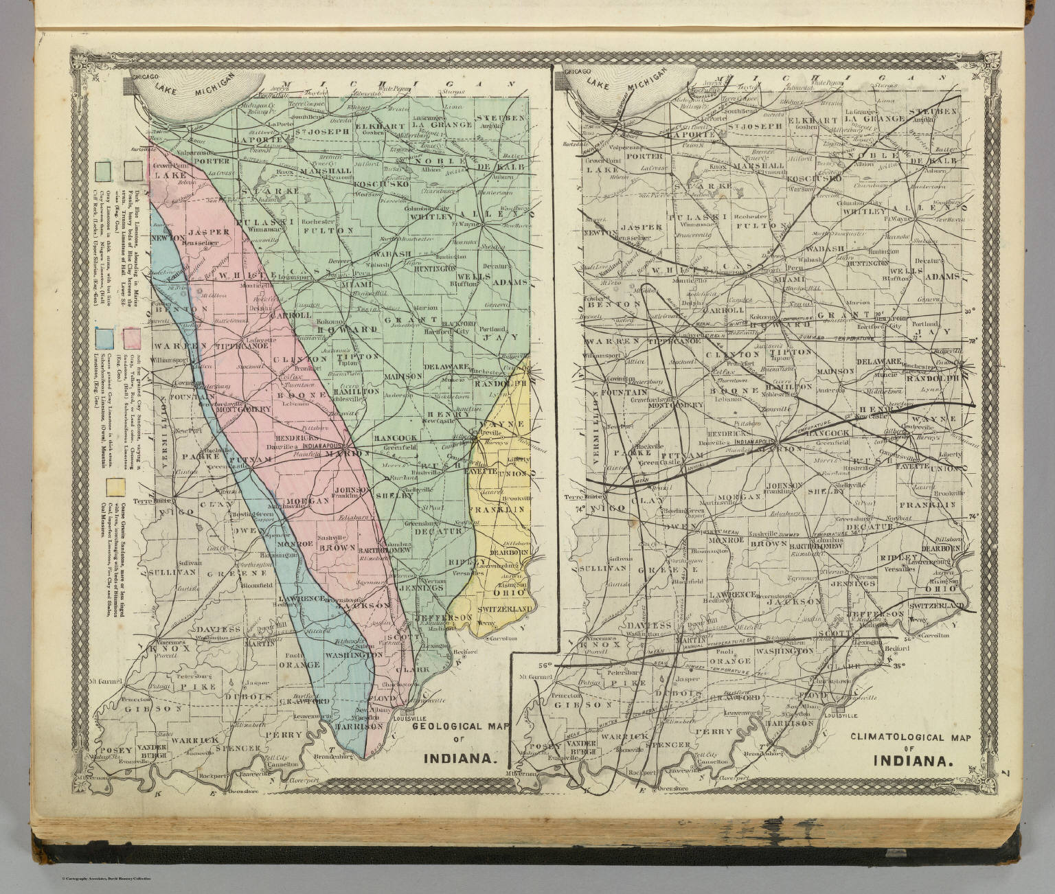Printable Map Of Indiana on
