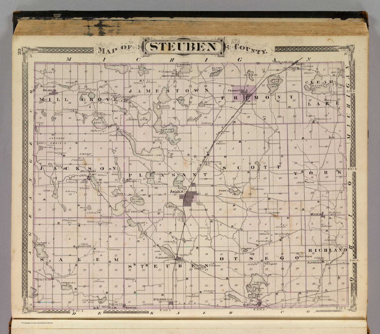 Map Of Steuben County Indiana David Rumsey Historical Map Collection