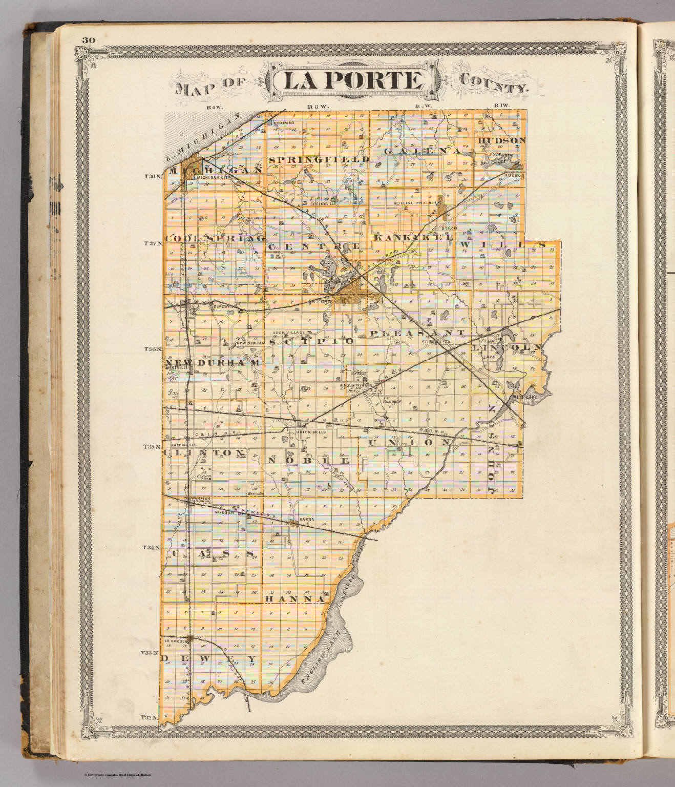 La Porte County Indiana Map.Map Of La Porte County David Rumsey Historical Map Collection