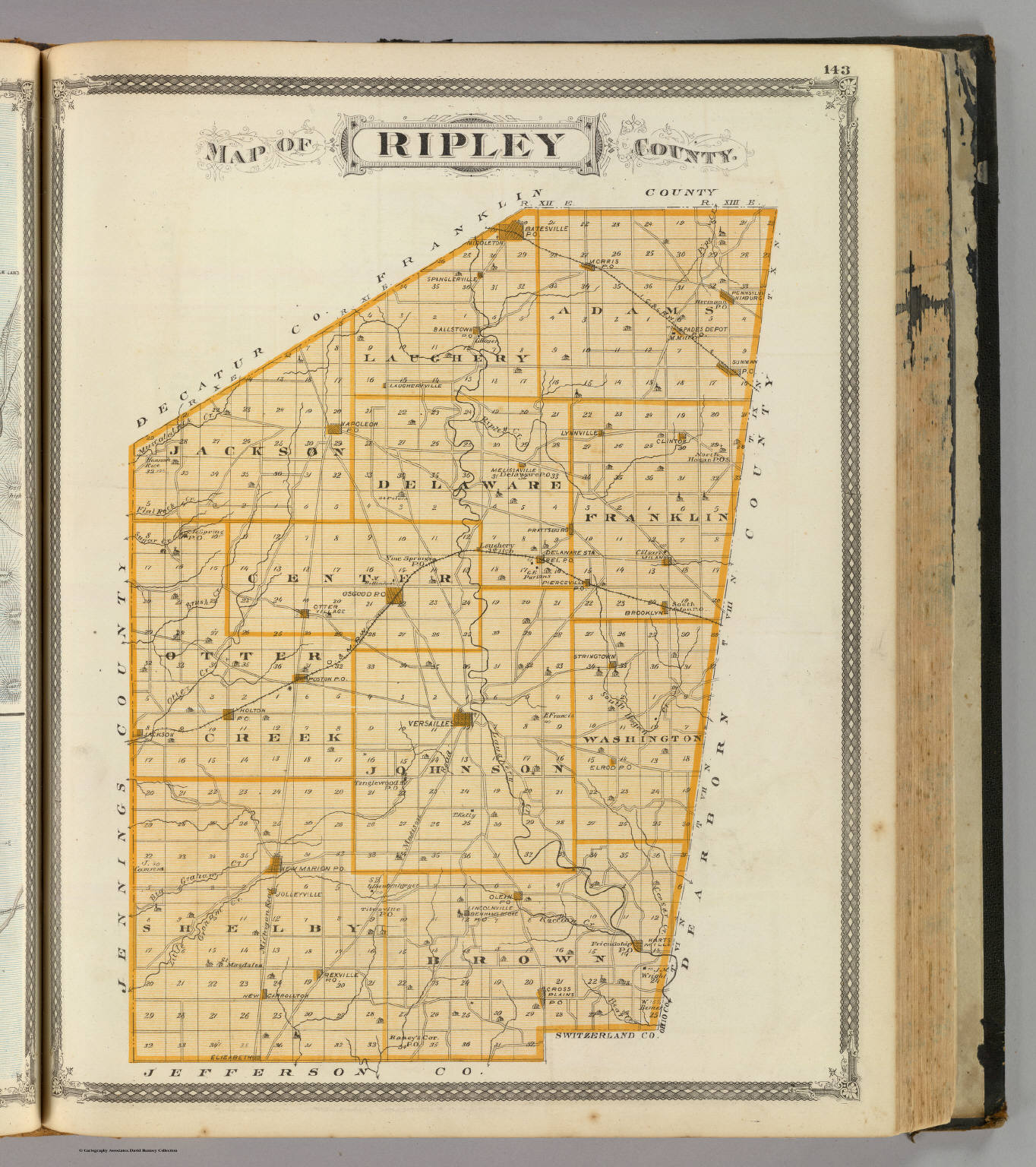 Map Of Ripley County David Rumsey Historical Map Collection