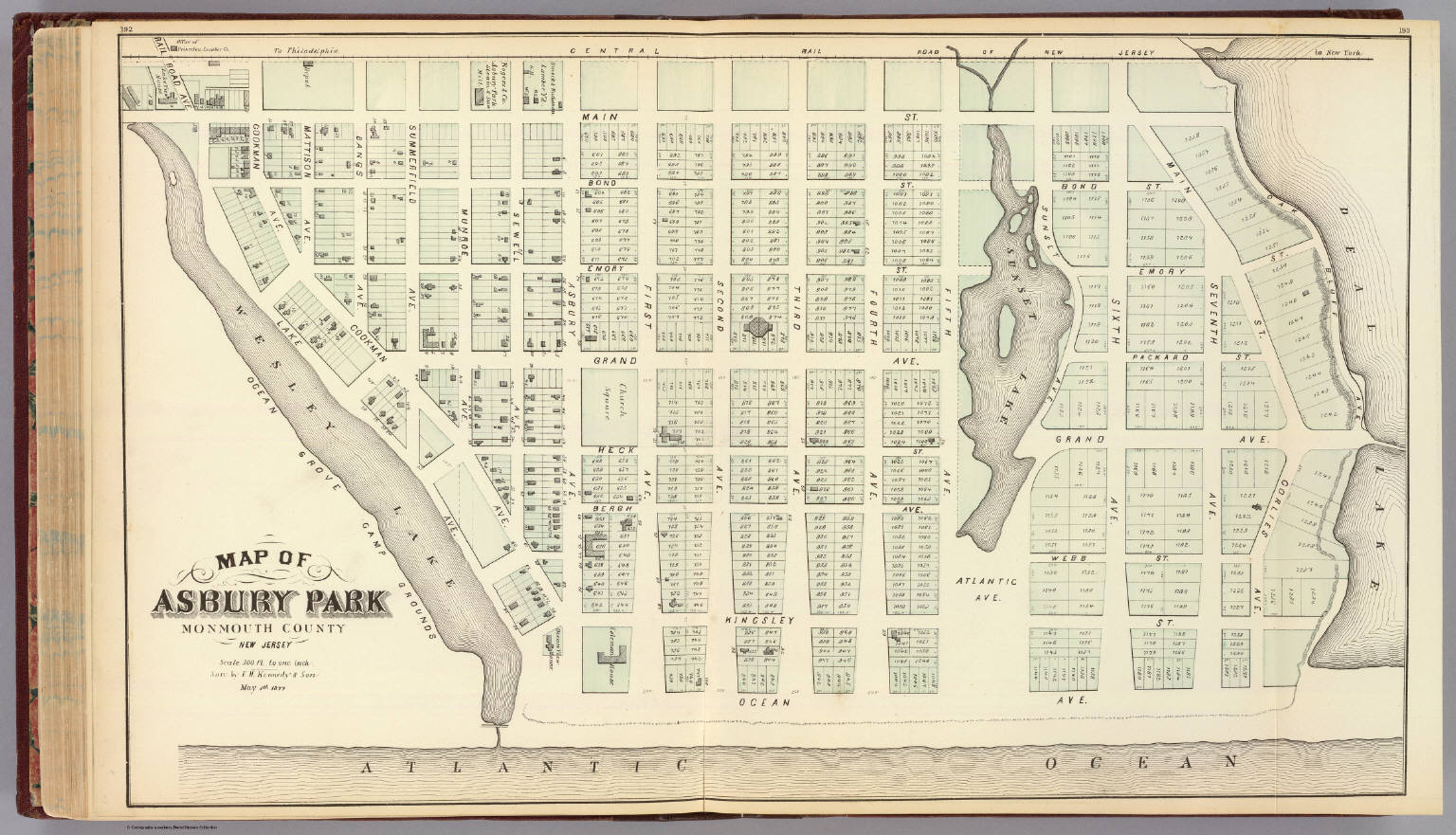 Asbury Park New Jersey Map.Map Of Asbury Park Monmouth County New Jersey David Rumsey
