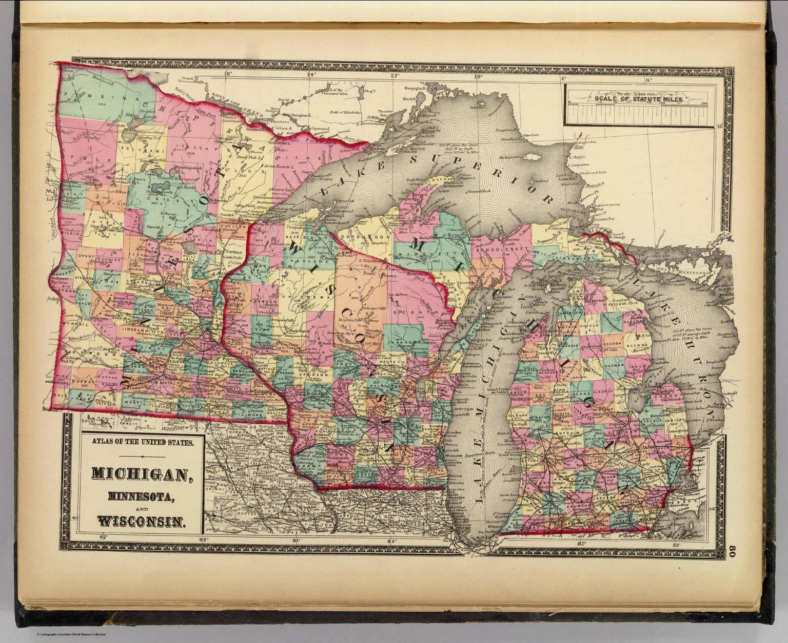 Michigan, Minnesota, and Wisconsin.