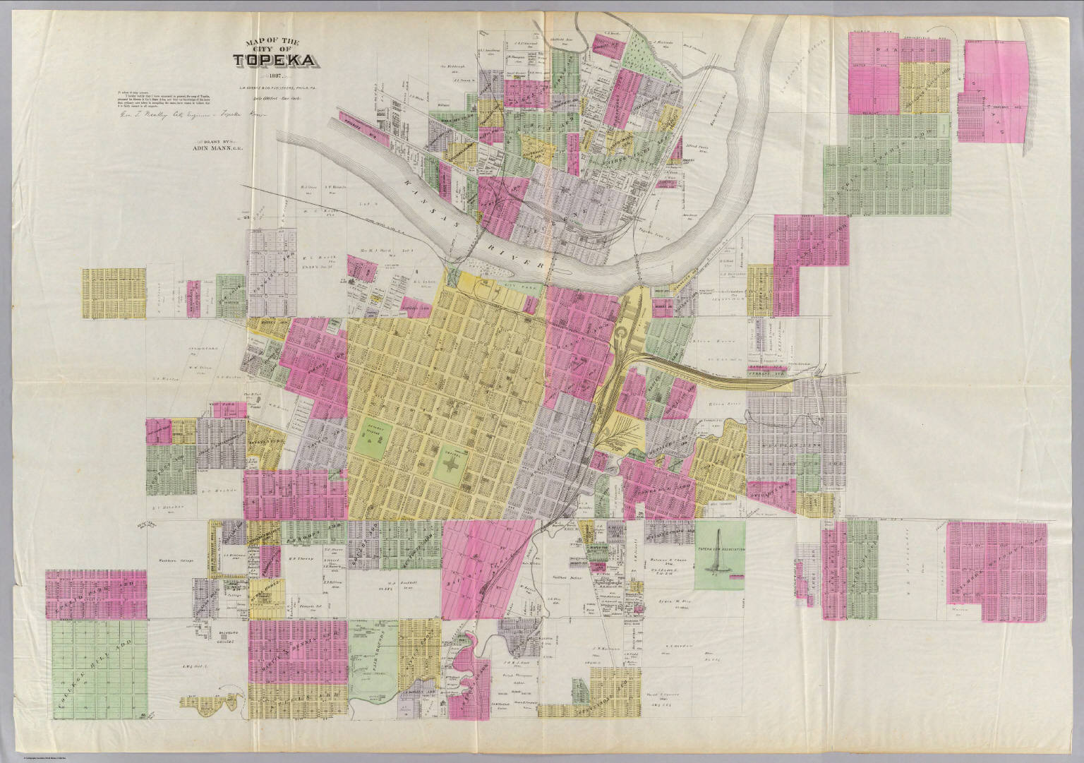 Map of the City of Topeka David Rumsey Historical Map Collection