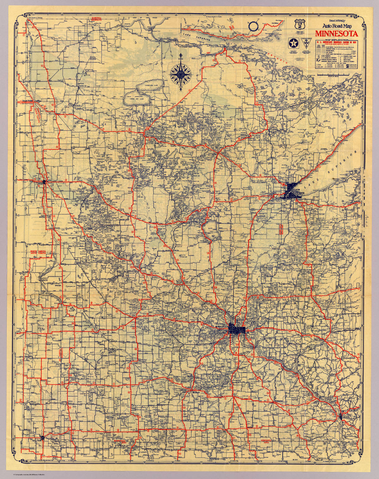 Minnesota road map - David Rumsey Historical Map Collection