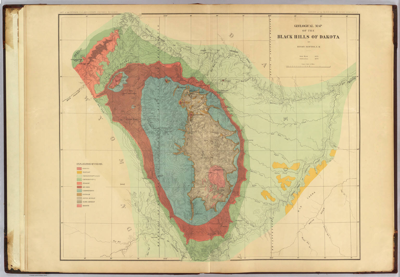 Geological map of the Black Hills of Dakota David Rumsey