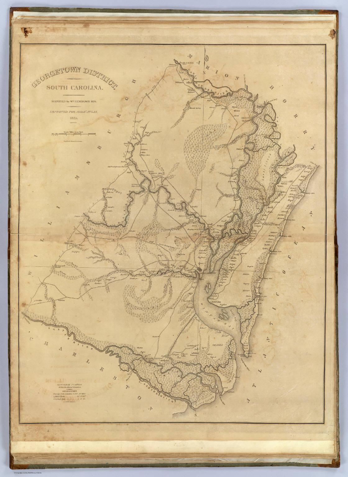 Georgetown District South Carolina David Rumsey Historical Map